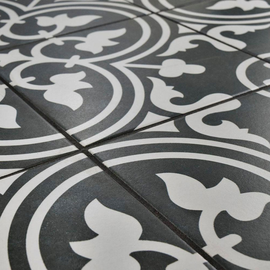 Arte Negro Detail | retrotegelwinkel.nl