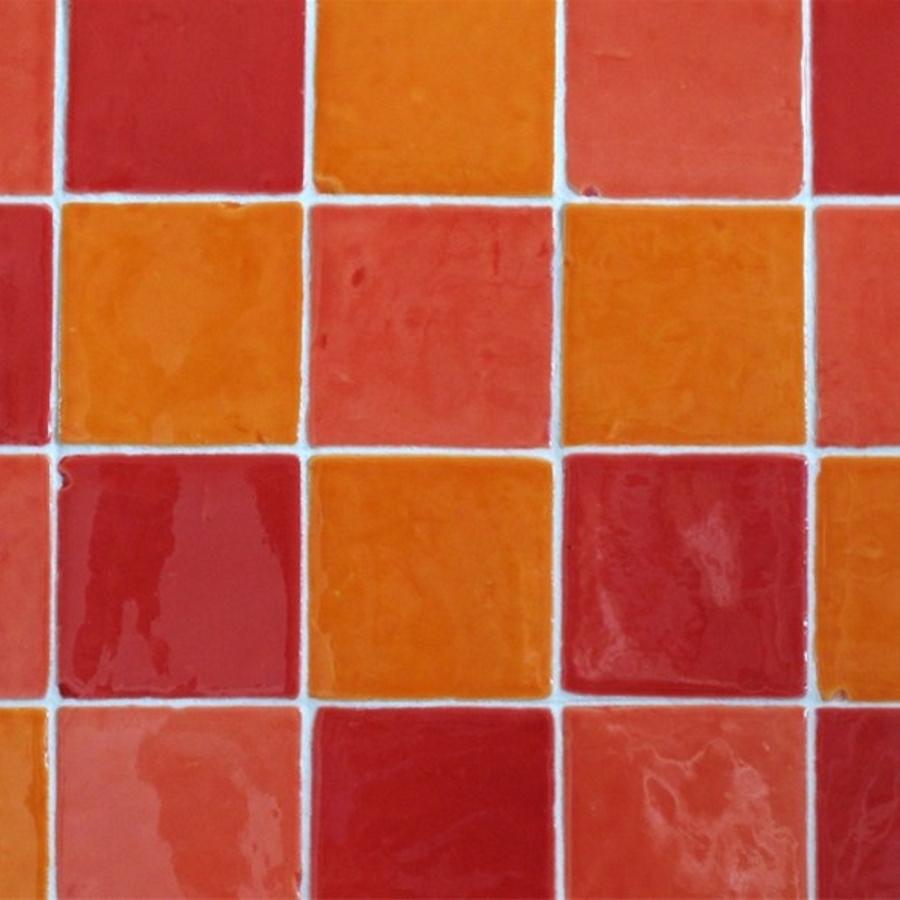 Azulejos Naranja T-10 Mix | retrotegelwinkel.nl