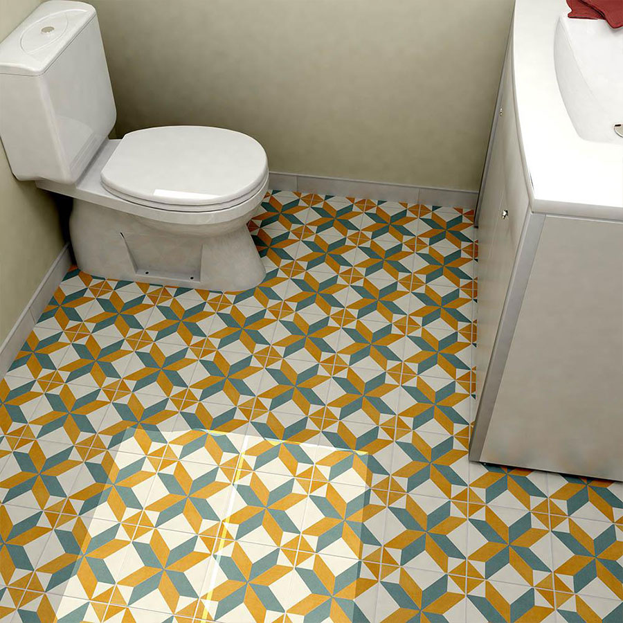 Revival Pattern Toilet | retrotegelwinkel.nl